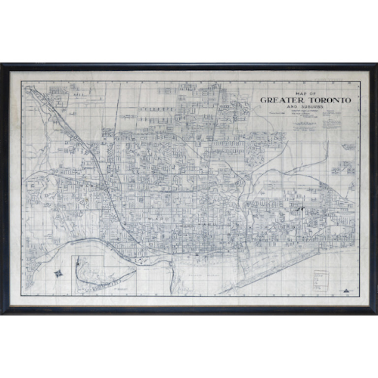 1916 map greater toronto