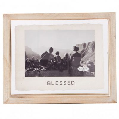 4x6 Blessed Glass Frame