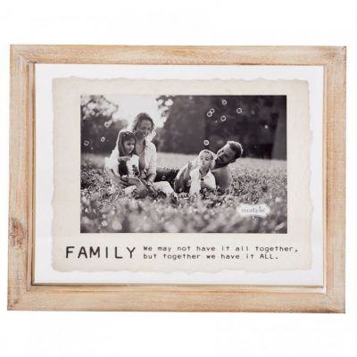 4x6 Family Glass Frame
