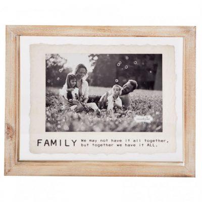 4x6 Family Glass Frame
