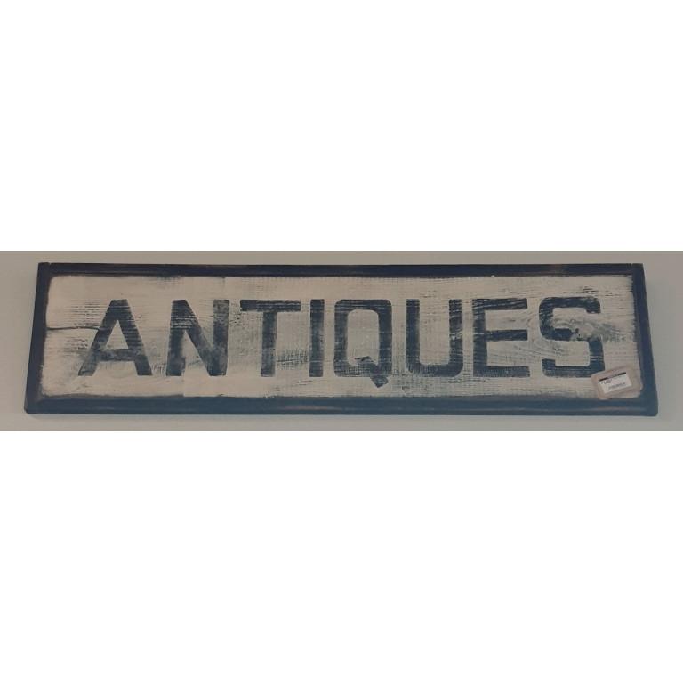 Antiques wood sign