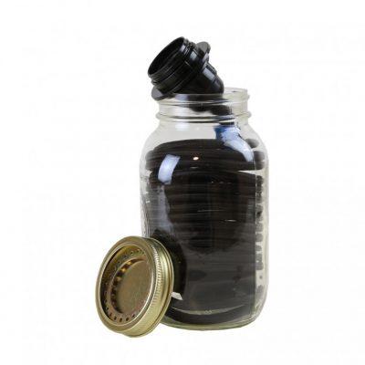 Mason Jar Light Kit black