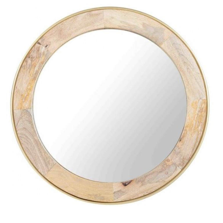 Toshi round mirror wood