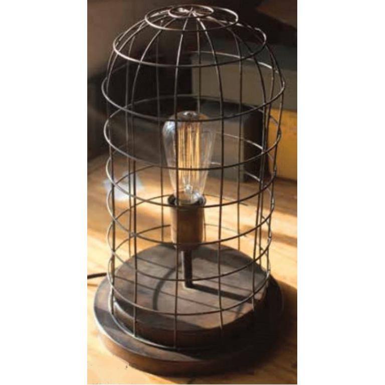 aged brass finish wire desk lamp