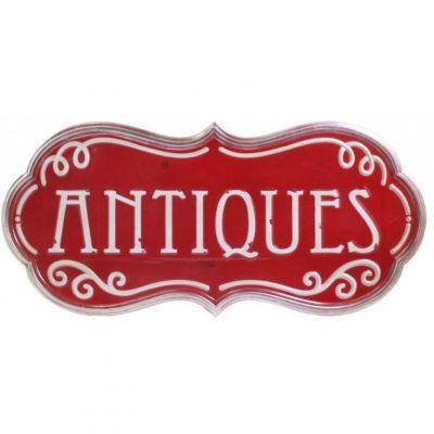 antique metal vintage sign