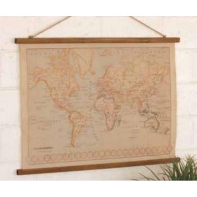 canvas printed world map