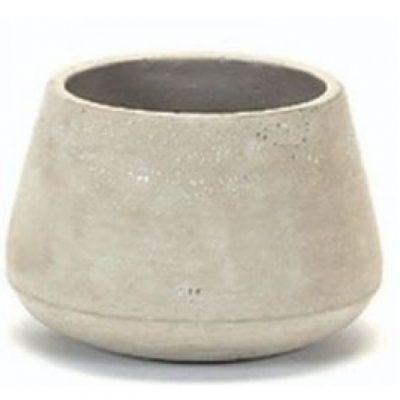 concrete curved pot large