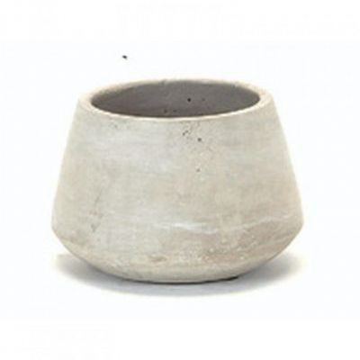 concrete curved pot medium