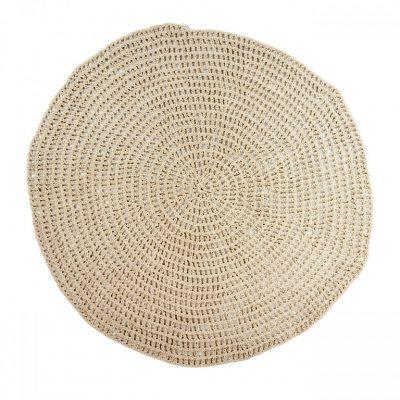 cotton crochet round rug