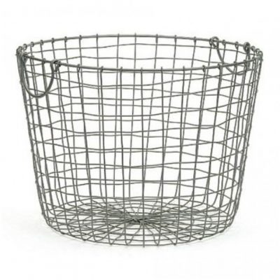 dark grey wire basket