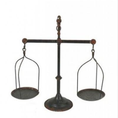 decorative metal scale