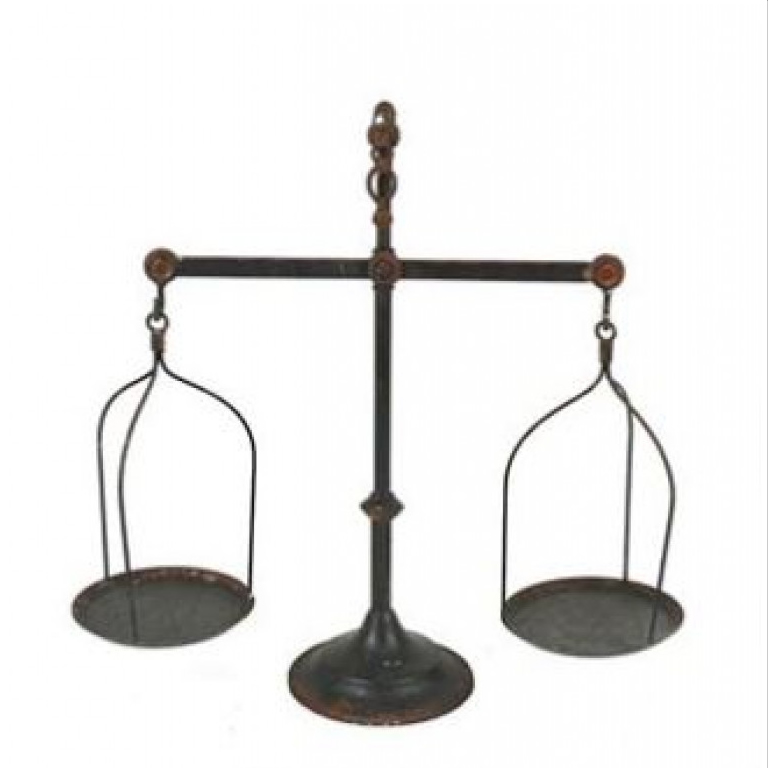 decorative metal scale