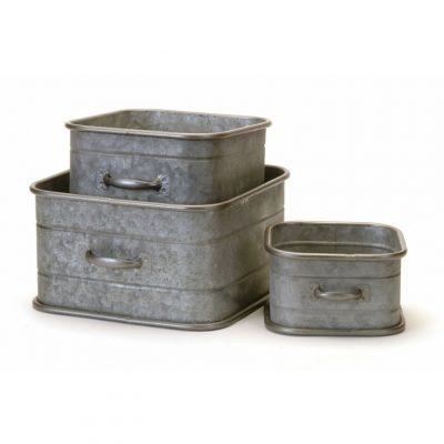 galvanized metal drawer planters