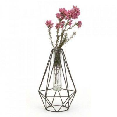 geometric wire vase