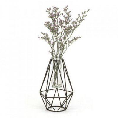 geometric wire vase 7h