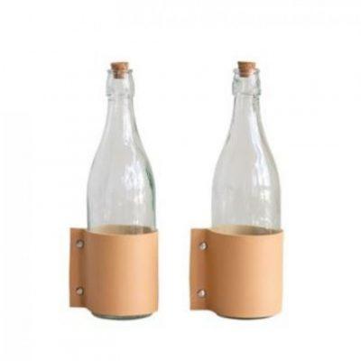 glass bottle cork leather