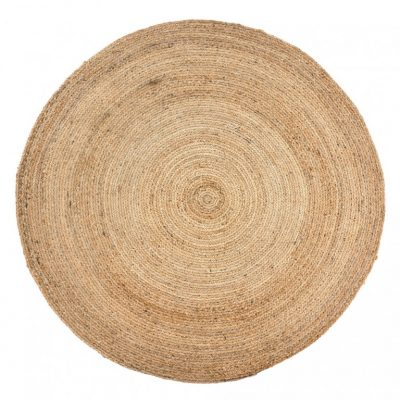 jute roundie rug