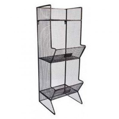 metal 2 tier wall bin