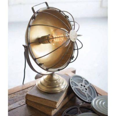 metal caged desk lamp