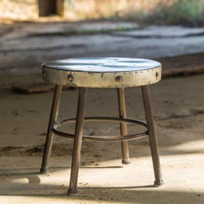metal milking stool