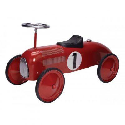metal speedster racecar red