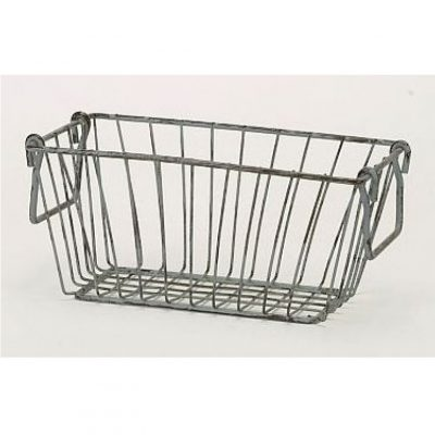 small rectangular wire basket