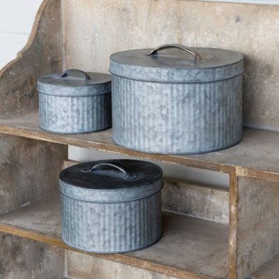 tin sewing boxes