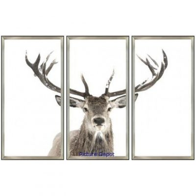 triptych antler picture