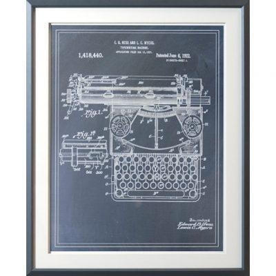 typewriting machine patent