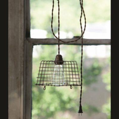 wire berry basket light