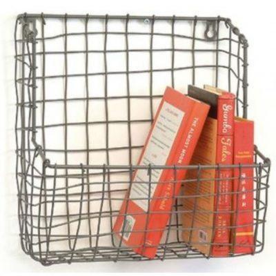 wire highback wall basket
