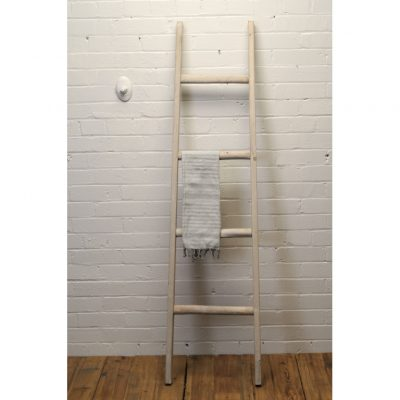 wood ladder whitewash