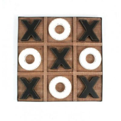 wood tic tac toe board
