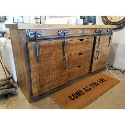 Barn Door Media Unit