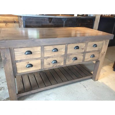 apothecary drawer island