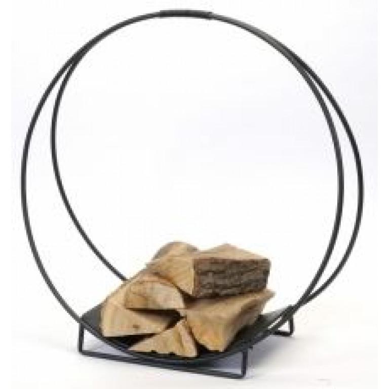 black metal log holder