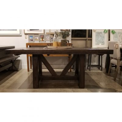 craftsman beam trestle dining table