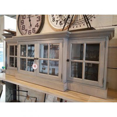 glass door media unit