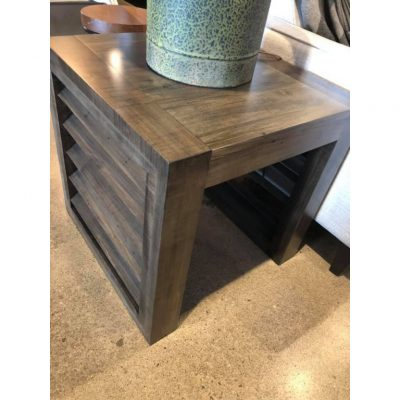 louvered side table