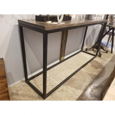 metal tube console table