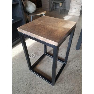 metal tube side table