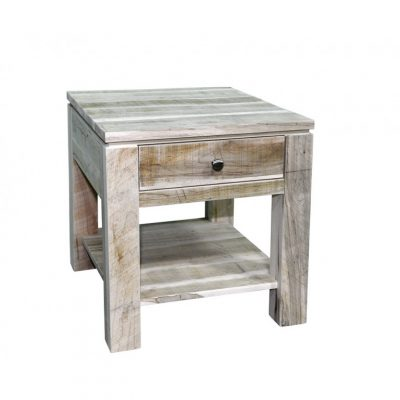 rough cut metro side table