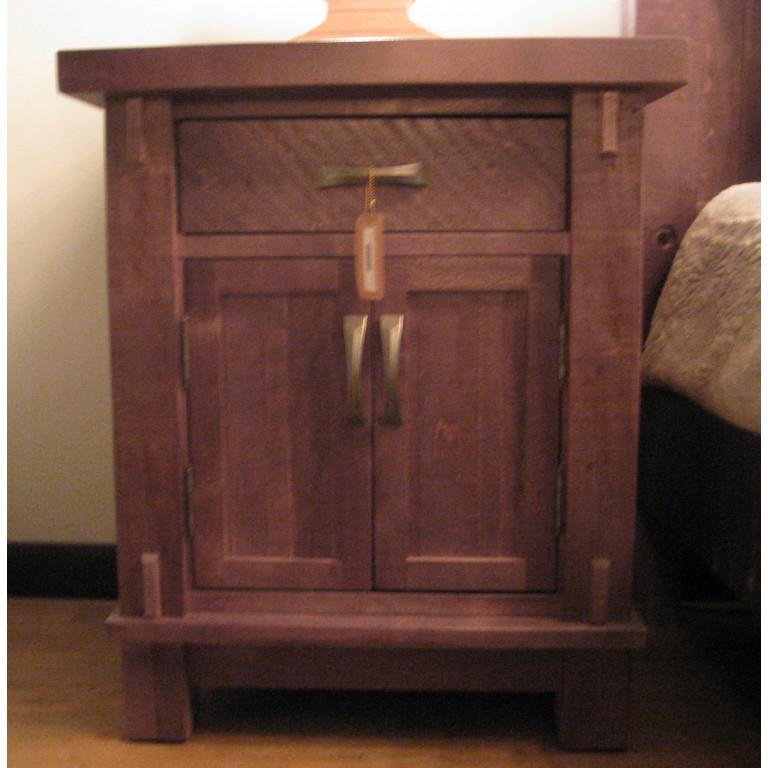 timber nightstand