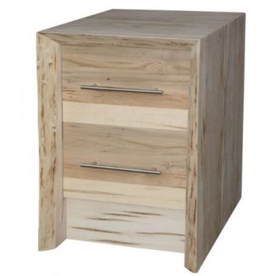 waterfall live edge 2 drawer nightstand
